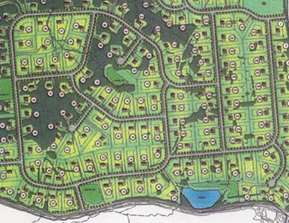 Map of Inniscrone Golf Course Project
